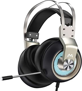 Mpow EG3 Pro - Over-Ear Gaming Headset for PC,PS4,Xbox One, Nintendo Switch,3D Surround Sound,Noise Cancelling Mic&Soft Me...