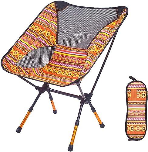LIPAI Klappstuhl Outdoor Klappstuhl Tragbare Lagerung Aluminium Strandstuhl Skizze Stuhl RüCkenlehne Verstellbares Bein Orange 57  43  71 cm