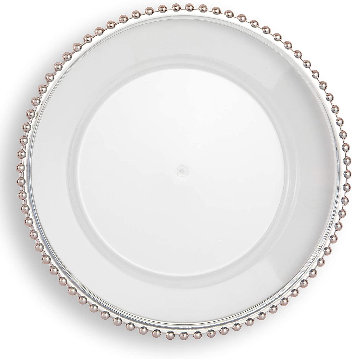 safety FANTASTIC : Round 13 Inch Faux wit Charger Plates Glass New color Plastic