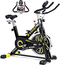 PYHIGH Indoor Cycling Bike Belt Drive Stationary Bicycle Exercise Bikes with LCD Monitor for Home Cardio Workout Bike Trai...