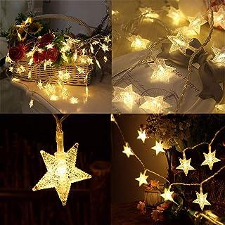 Tibodew le Star Light 40 LED 19.69 FT Mini Star String Lights, Battery Powered Fairy String Lights , Decoration for Kids R...
