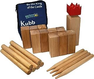 Kubb Outdoor Lawn Set   Garden Games - Wood Yard Game   12 in King Piece