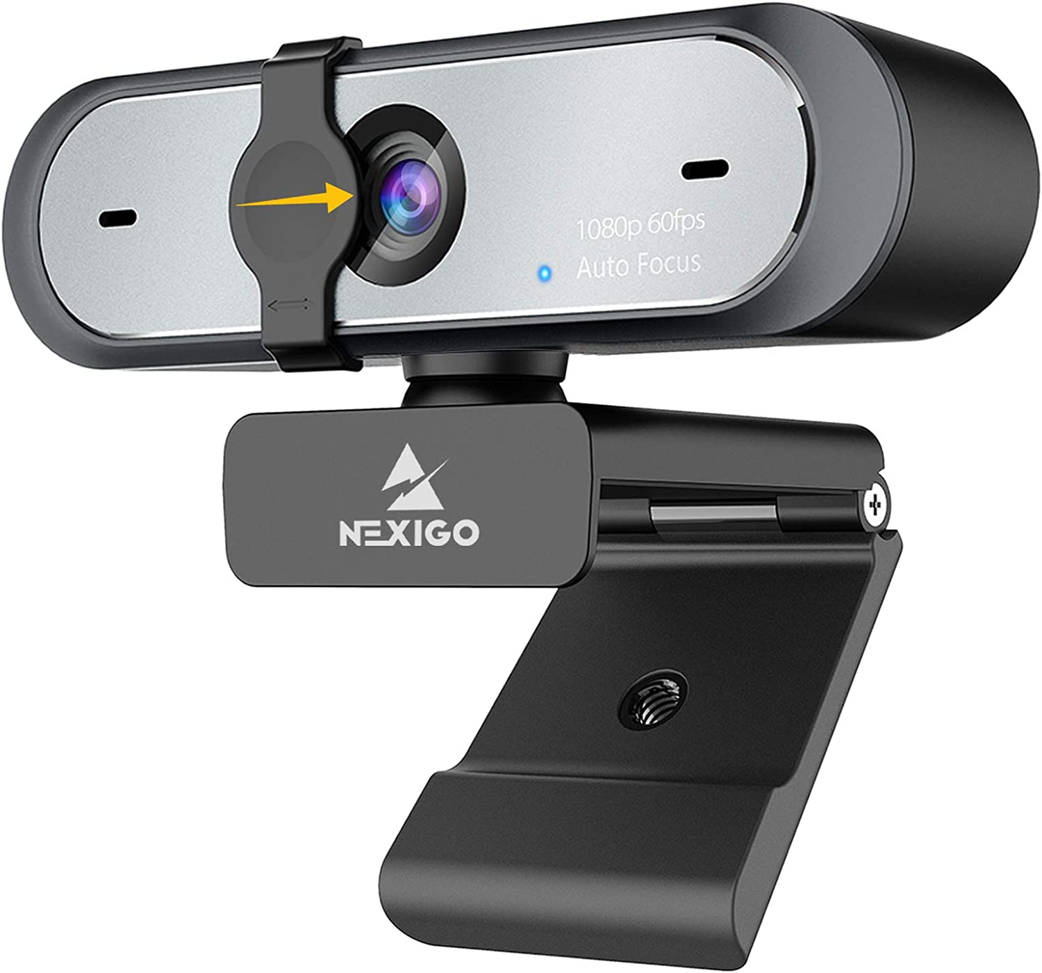 60FPS AutoFocus 1080P Webcam with Software Control, Dual Microphone & Cover, 2021 NexiGo N660P Pro HD USB Computer Web Camera, for OBS Gaming Zoom Skype FaceTime Teams