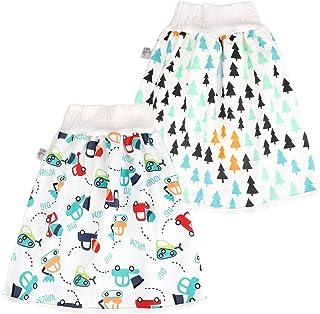 FLYISH DIRECT Baby Trainingshose High Waist Cotton Sleepy Windelhose Urinpolster Klimmzüge Lernhose Potty Underwear Windelunterwäsche 2 Stück
