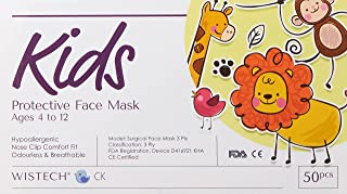 Wistech UVMASK 3-Ply Kids Surgical Protective Face Mask (50 Pieces)