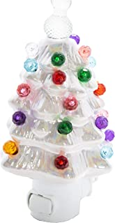 ReLIVE - White Pearlized Ceramic Christmas Tree Night Light