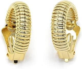 Marshal Metal Fashion Earring 18k Gold Plated Clip Omega Cobra Earring (7mm)