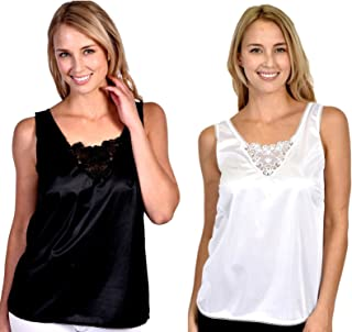 Patricia Lingerie Women's Anti-Static Camisole with Elegant Lace 2 Or 3 Pack