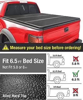 Alloy Tri-Fold Hard Top Truck Bed Tonneau Cover for 2014-2019 Chevy Silverado / GMC Sierra 1500; 2015-2018 Silverado Sierra 2500 3500 HD   Fleetside 6.5 Bed   For models w/o Utility Track System