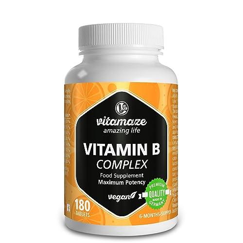 Vitamina B Complex, altamente concentrada, B1, B2, B3, B5, B6