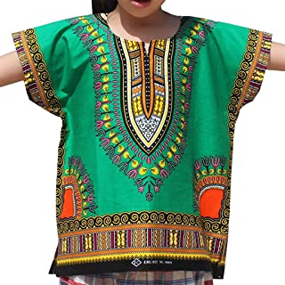 Sanmomo Kids Hipster Premium Tees Print Shirt Fashion Tops for Boys and Girls Green