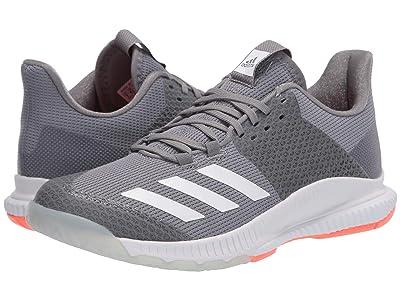 adidas Crazyflight Bounce 3 (Grey Three/Footwear White/Signal Coral) Women