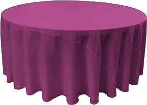 LA Linen Polyester Poplin Round Tablecloth Casual Magenta