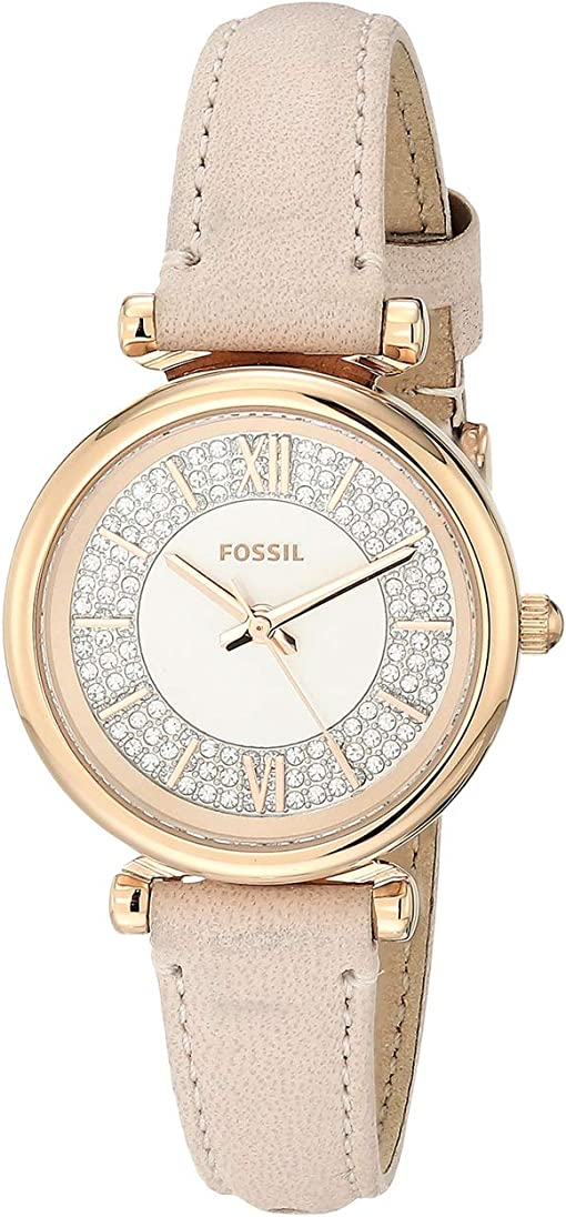 ES4839 Rose Gold Nude Leather