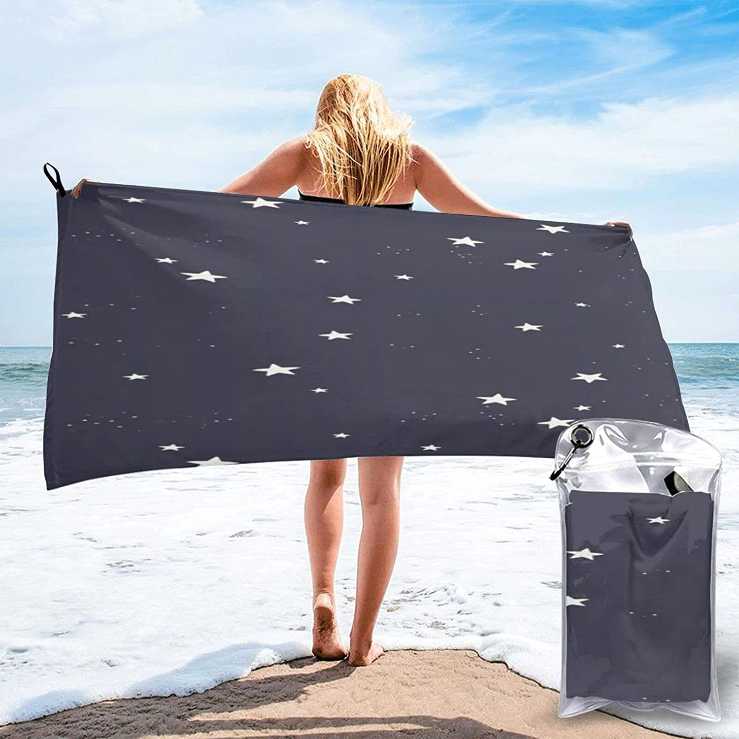 Max 63% OFF Twinkle Star Microfibre Pool Beach Towels Dry Over item handling ☆ Light Travel Quick