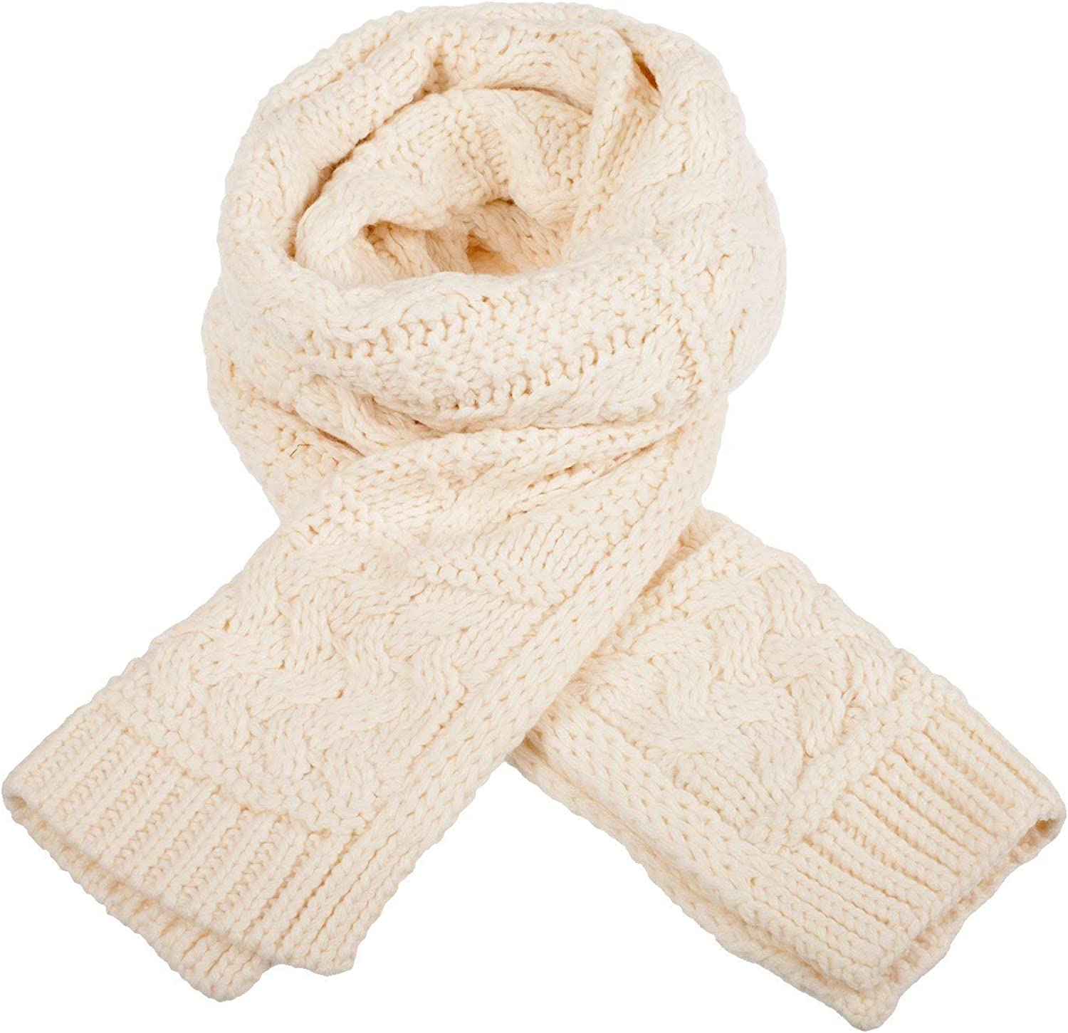 Cream Knit Style Scarf, Soft Warm And Cosy 50% Acrylic And 50% Polyester