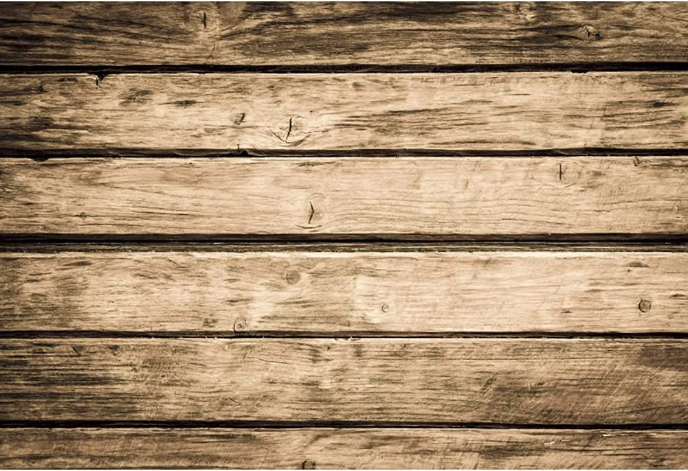 SEAL limited product LFEEY 12x10ft Vinyl Houston Mall Rustic Wood Vintage Br Backdrops Photography