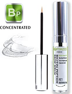 Best BIOTIN PEPTIDE Infused Eyebrow Serum Get Visibly Longer, Fuller, Thicker, Darker Eyebrows with Natural Hyaluronic Acid + Tripeptide Anti Aging Medical Grade Formula For Perfect Brows - OPTIMIZED