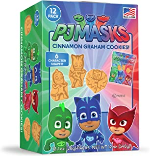 PJ Masks Cinnamon Graham Cookie Box With 12-1 Ounce Single Serve Bags