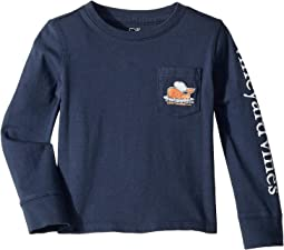 Long Sleeve Slub Thanksgiving Turkey Tee (Toddler/Little Kids/Big Kids)