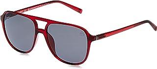 Timberland Men's Sunglasses TB919069D58 - Shiny Bordeaux/Smoke Polarized - Injected
