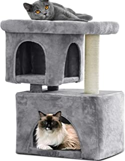 BEAU JARDIN Cat Condos and Towers for Large Cats Heavy Duty Cat Tree for Big Cat with X-Large Perch and Condo Cat Tree House with Scratching Post Cat Activity Trees Scratch Climbing Tower Kitty Condos