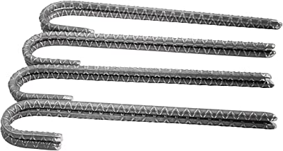 Pinnacle Mercantile (8-Pack Rebar Stakes J Hook Heavy Duty Steel Ground Anchors 12 inch Chisel Point End