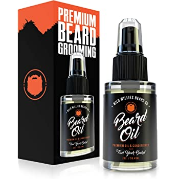 Wild Willies Beard Oil for Men. Made with 10 Natural Conditioner Ingredients & Organic Essential Oils. Promotes Fast Growth, Restores Moisture & Delivers a Deep Softener Treatment. 2oz Bottle
