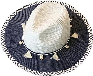 CN'Dragon Women Boho Chic Straw Hat Summer Breathable Sunhat Pillbox Hat