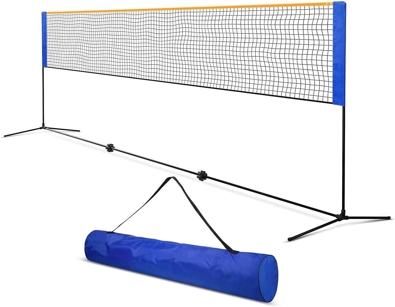大特価!! ORIENGEAR Portable 流行のアイテム Badminton and Tennis Net Carrying with Poles