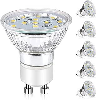 Ascher GU10 LED Light Bulbs, 50W Halogen Bulbs Equivalent, 4W, 400 Lumens, Non-Dimmable,..