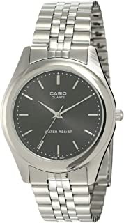 Casio Men's Black Dial Stainless Steel Band Watch - MTP-1129A-1ARDF, Analog