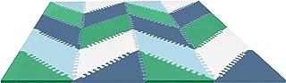 Skip Hop Geo Playspot - Baldosas de espuma para piso, color azul y verde