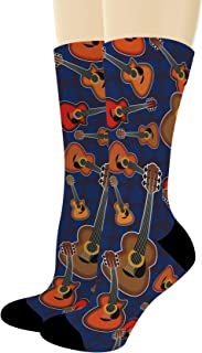 Musician Gifts Acoustic Guitar Socks Music Lover Gifts Guitarist Gifts Rock Socks Novelty Crew Socks
