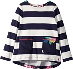 Striped Mixed Print Top (Toddler/Little Kids)