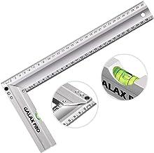 Reglas de Acero Inoxidable GALAX PRO 300 mm, 90° de Precisión con Nivel de Burbuja, Mango de Aleación de Aluminio, para Ingeniería, Medición, Dibujo - S0405