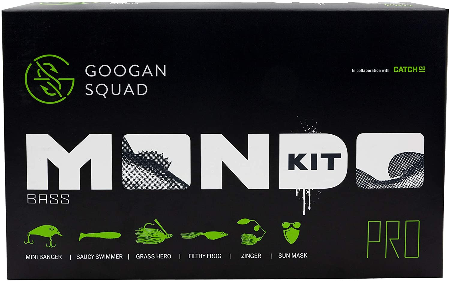 Catch Co At the price of surprise Googan New sales Squad Bass Fishing Mondo PRO Kit