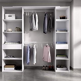 HABITMOBEL Vestidor Perchero Blanco baldas y cajones Medidas: Alto: 203 cm x Fondo: 50 cm x Ancho: 200 cm