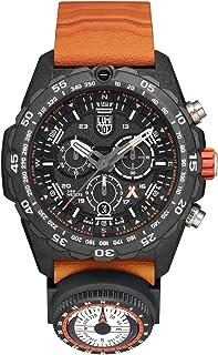 ساعة يد لومينوكس بإصدار محدود يحمل صورة الدب جريلز 3749 | أسود/برتقالي