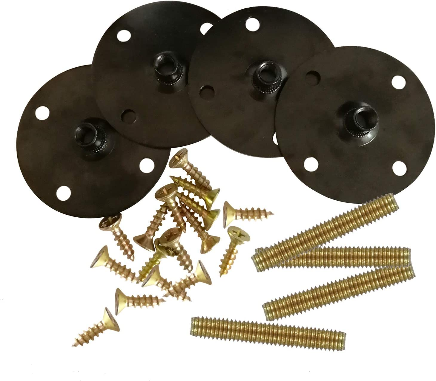 Btibpse Furniture Legs Attachment 100% quality warranty! Plates Free shipping on posting reviews Bolts Screw Hanger with