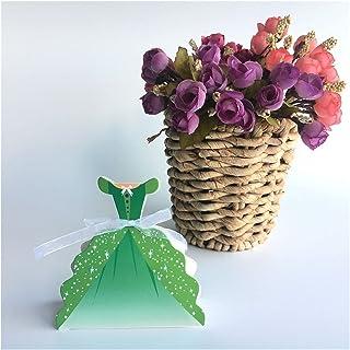 Gift Box Romantic Princess Wedding Candy Box 25pcs Birthday Party Favor Box Wedding Gift Box Gift Box (Color : Green)