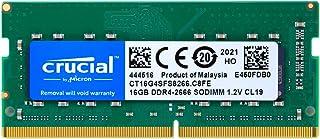 Crucial ノートPC用 メモリ PC4-21300(DDR4-2666) 16GB SODIMM CT16G4SFS8266【永久保証】 [並行輸入品]