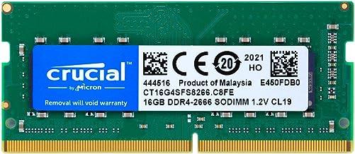 Crucial ノートPC用 メモリ PC4-21300(DDR4-2666) 16GB SODIMM CT16G4SFS8266 [並行輸入品]