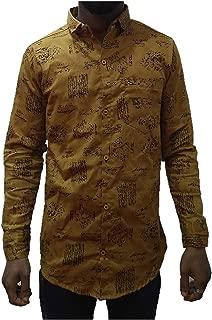 Golden Casual Cotton Shirt for Men