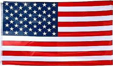 TRIXES Bandiera Americana 150 cm x 90 cm - Stelle e Strisce - 5 Piedi x 3 Piedi - Bandiera per Eventi Sportivi y per il 4 Luglio