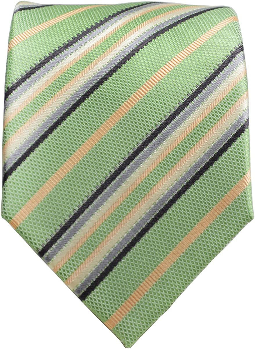 Green and Salmon Silk Tie Pocket Sale Square Red Malone Paul Line Limited time sale