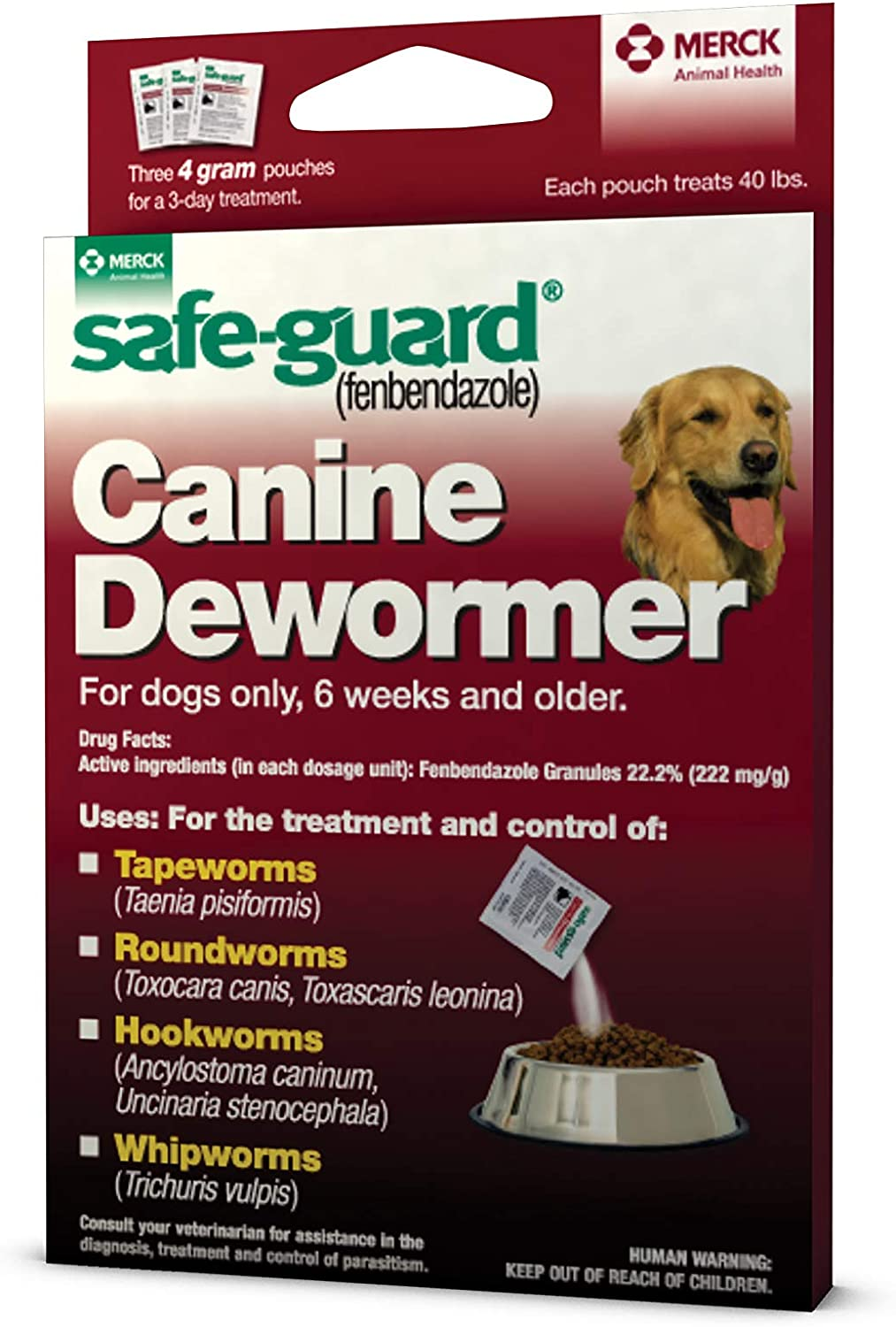 Safe-Guard fenbendazole Canine Dewormer for Max 84% OFF 4gm Dogs Phoenix Mall pouch e