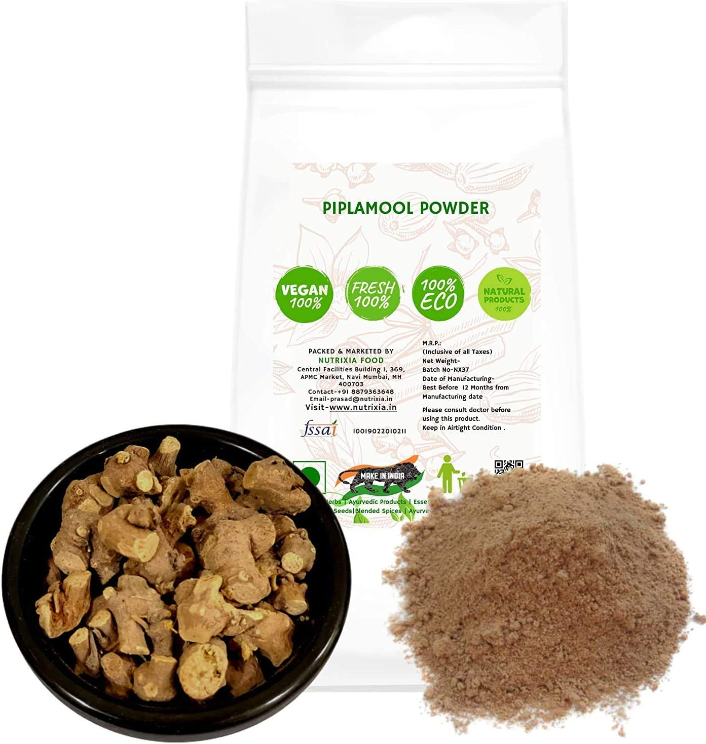 Marbella Piplamool Powder Sales results No. 1 Max 75% OFF Ganthoda Pipla MUL Pipal