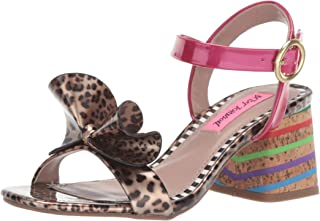 Betsey Johnson Women's LANORE Heeled Sandal, Leoaprd Multi, 7.5 M US