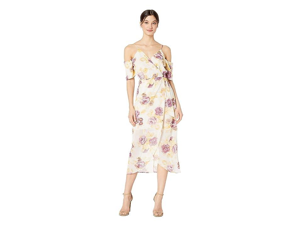 WAYF Margo Wrap Dress (Purple Floral) Women